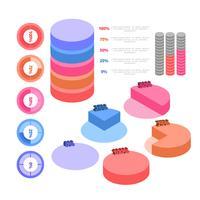 Infografia isométrica vetorial