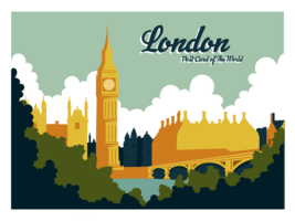 London Postcard Vector