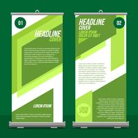 Negocio Roll Up Standee Vector Gratis