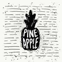 Hand-Drawn Pineapple Silhouette Vector