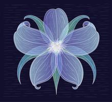 Vector Hand Drawn Flower Illustration