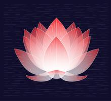 vektor handritad lotus illustration