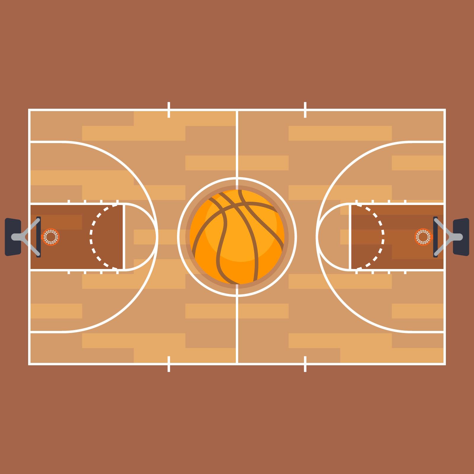 Basketball- und Basketballplatz-Grundriss. - Kostenlose Vektor-Kunst ...