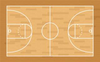 Cancha de basketball vector