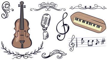 Festival de musique 2 vecteurs