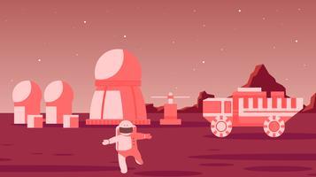 Forschung auf dem Mars-Vektor