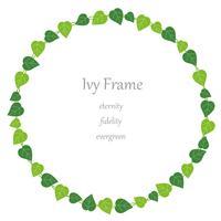 Circular ivy frame.