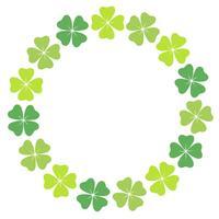 Four-leaf clover circular frame.