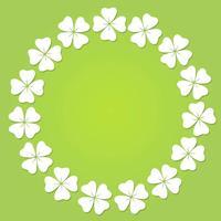 Quadro circular do trevo de quatro folhas.