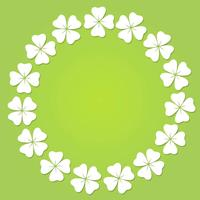 Kreisrahmen mit vier Blättern Kleeblatt.