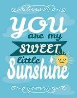 My Sunshine Wall Art Poster