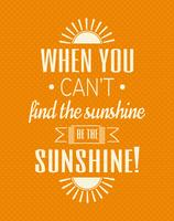 Typographic Cute Sunshine Wall Art Poster