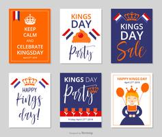 Kings Day In The Netherlands Vector Posters