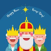 Illustration vectorielle de Kings Day