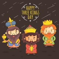 Dibujos animados Kings Day Vector