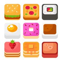 vector de icono de la aplicación de alimentos