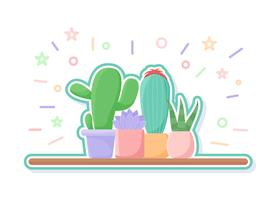 Vecteurs de succulents uniques