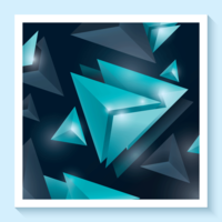 Abstract Triangle Poster