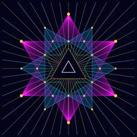 Triangle hipster mystique fond de triangle astral