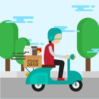 Food Drive Vector Illustration