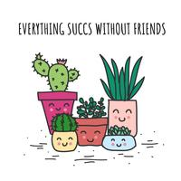 Todo Succs sin amigos Vector