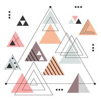 Abstract Triangles Vector