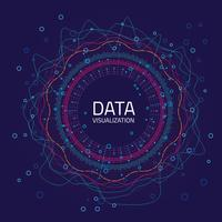Data graphic visualization. Big data analytics visualization with lines, dots and arrow elements