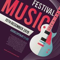 Festival de música Vector