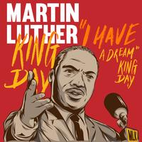 martin luther king day affiche illustration