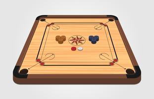 illustration de planche de carrom