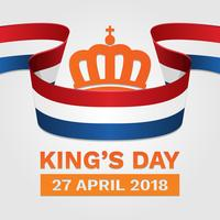 Koningsdag Nederland Poster Illustration vector