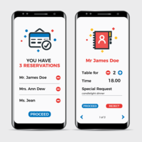 Restaurant Reservation App vector