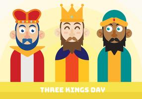 Three Kings Day Vector Design