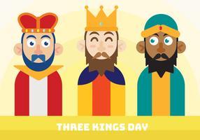 Diseño vectorial de tres Reyes Day