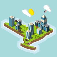 New York City Carton Isometric Empire State Building Vector