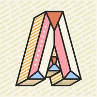 Letra A fondo de tipografía