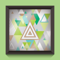 Abstract Triangles Illustration