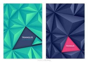 3D Abstract Triangles Vector Backgrounds