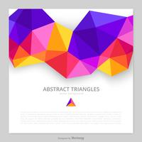Fond de triangles abstraits de vecteur coloré