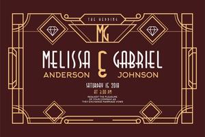Art Deco Wedding vector