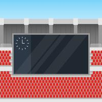 Jumbotron In The Corner Of An Outdoor Stadium Illustration