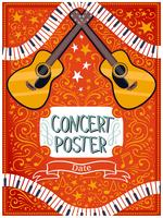 Vetores de cartaz de concertos