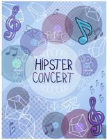 hipster concerto poster vetores