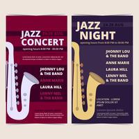 Vector Jazz Concert Posters