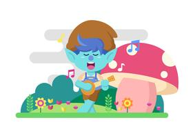 Trolls Singing In The Forest vector
