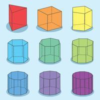Geometrisk Prism På Blå Vektor