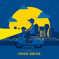 Food Drive Midnight Illustration