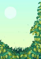 Fondo de planta de lúpulo