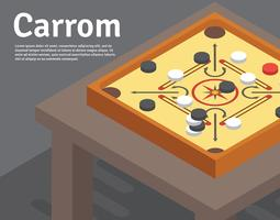 Carrom Illustration