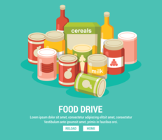 Food Drive Illustration